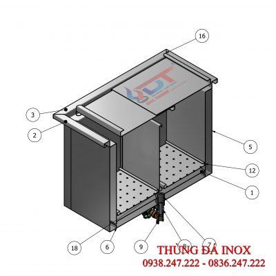 Cấu tạo thùng đá Inox