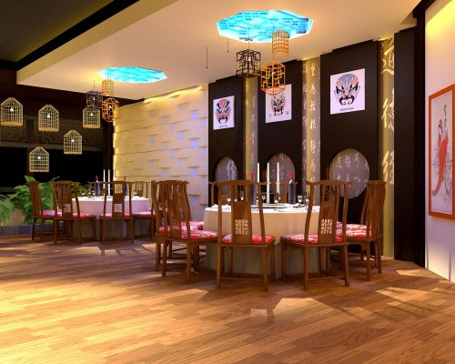 Thiết kế phòng ăn Trung Hoa